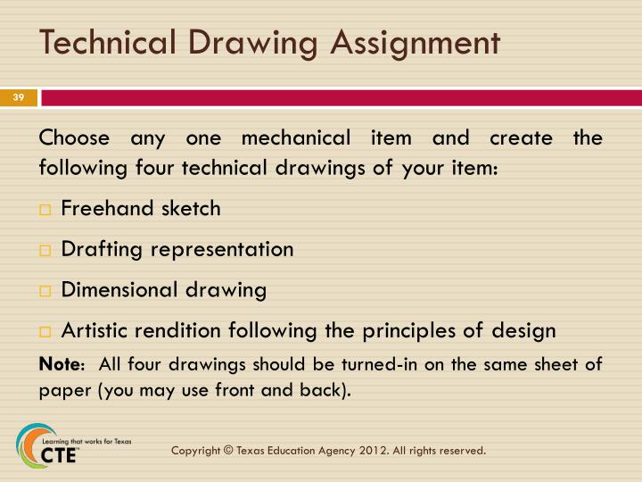 Technical Drawing Assignment