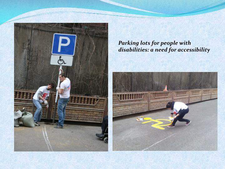 Parking lots for people with disabilities: a need for accessibility