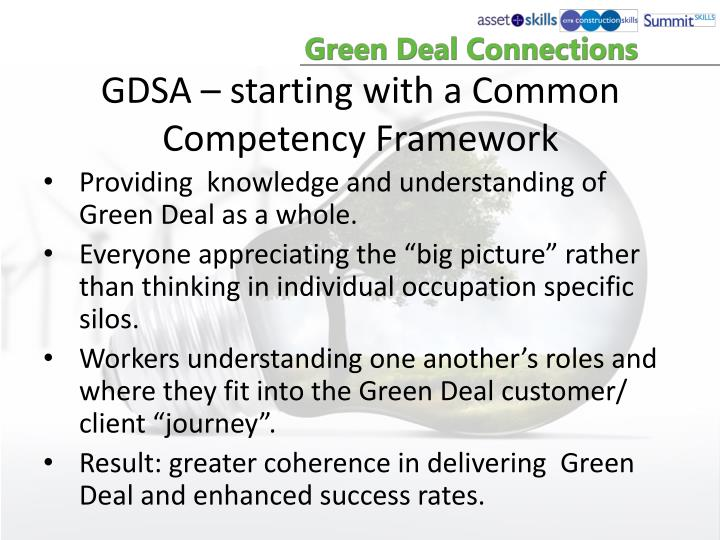 GDSA – starting with a Common Competency Framework