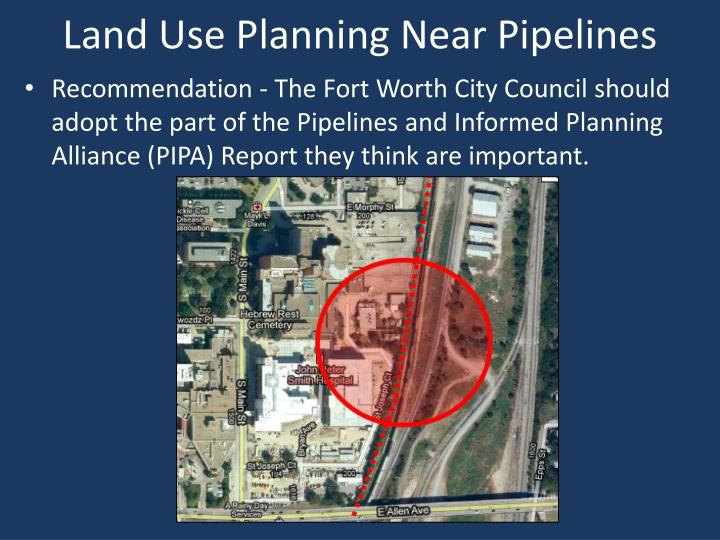 Land Use Planning Near Pipelines