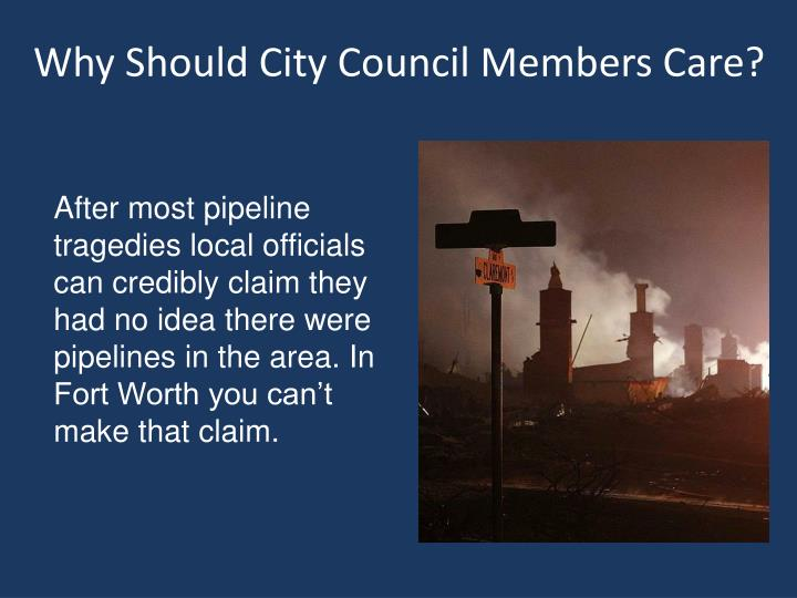 Why Should City Council Members Care?
