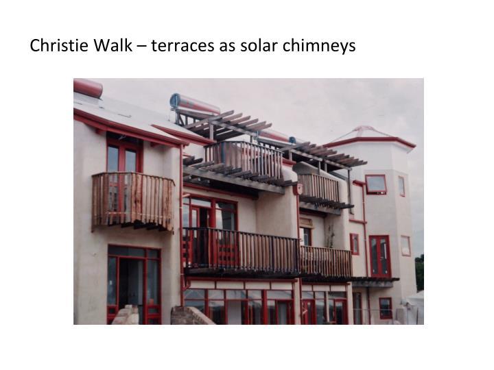 Christie Walk – terraces as solar chimneys