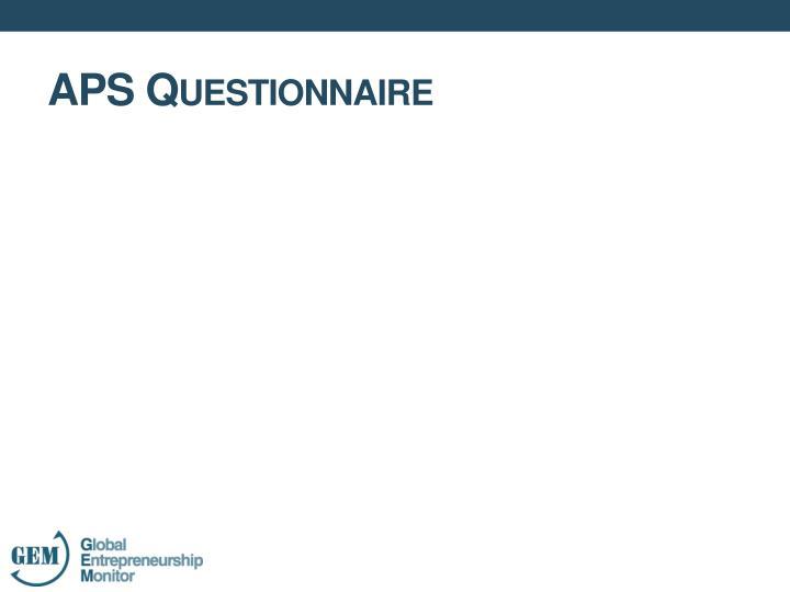 APS Questionnaire