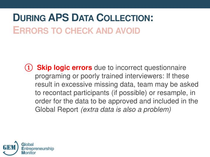Skip logic errors
