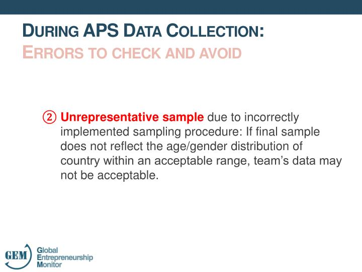 Unrepresentative sample