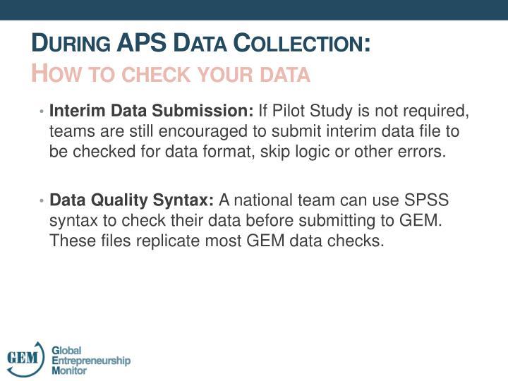 Interim Data Submission: