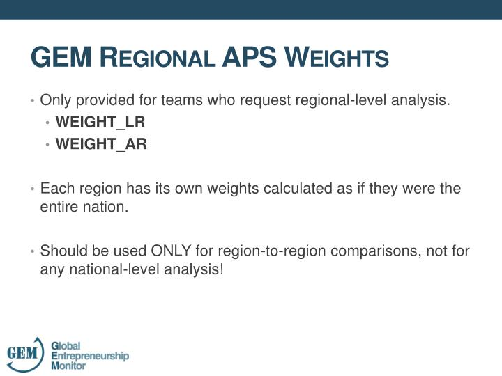 Only provided for teams who request regional-level analysis.