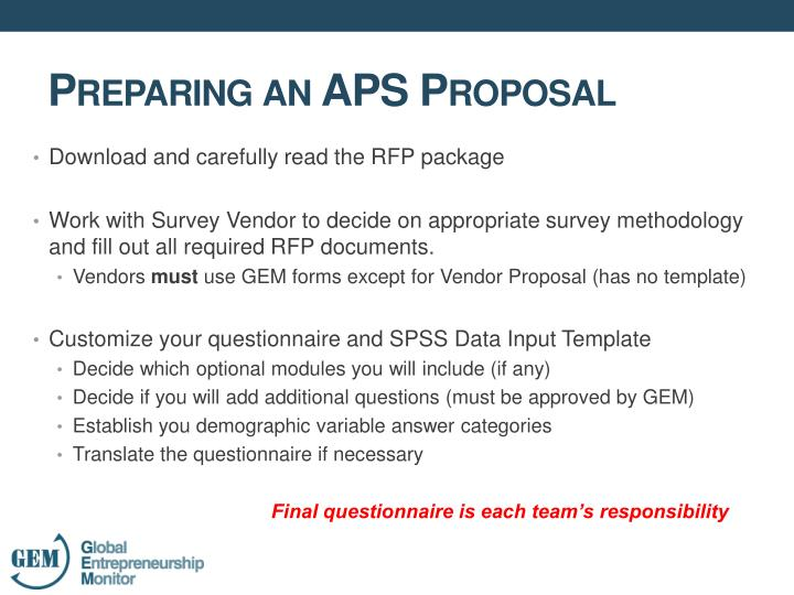Download and carefully read the RFP package