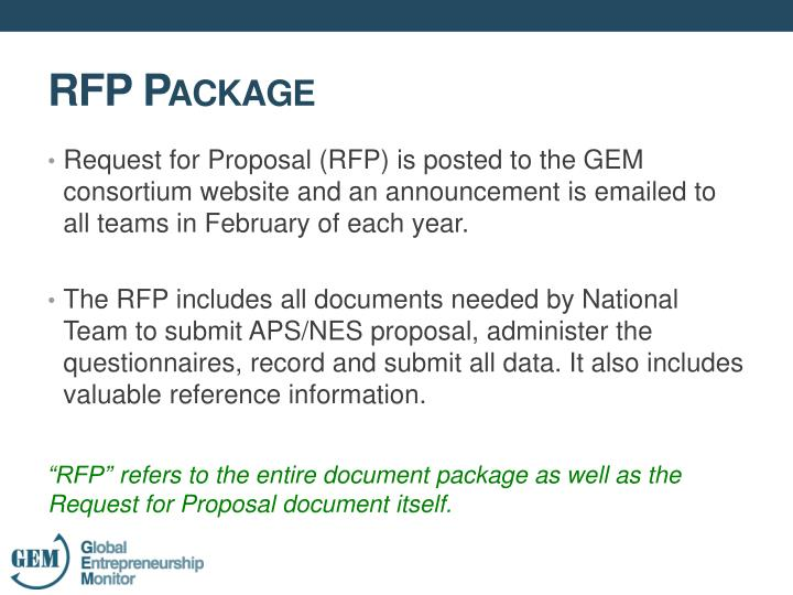 Request for Proposal (RFP) is posted to the GEM consortium