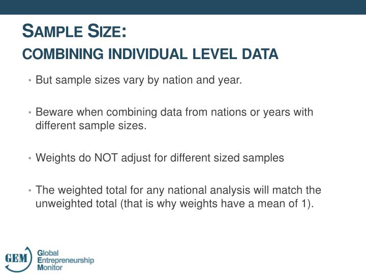 But sample sizes vary by nation and year.
