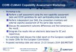 core climax capability assessment workshop