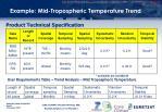 example mid tropospheric temperature trend