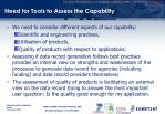 need for tools to assess the capability1