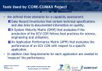 tools used by core climax project