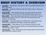 brief history overview