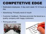 competetive edge