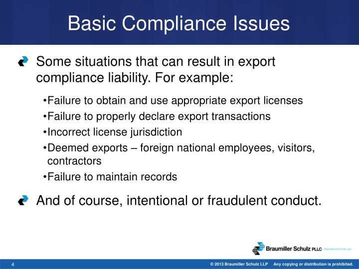 Basic Compliance