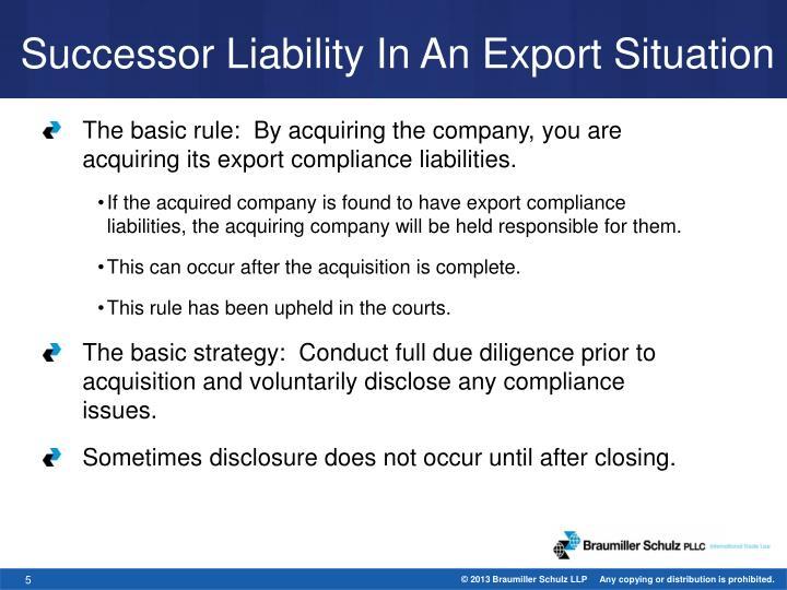 Successor Liability
