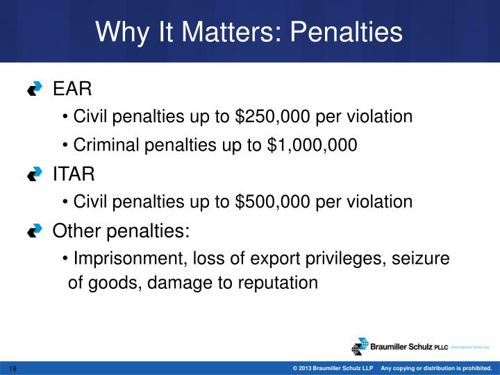 Why It Matters: Penalties