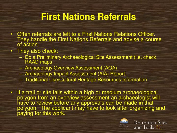 First Nations Referrals