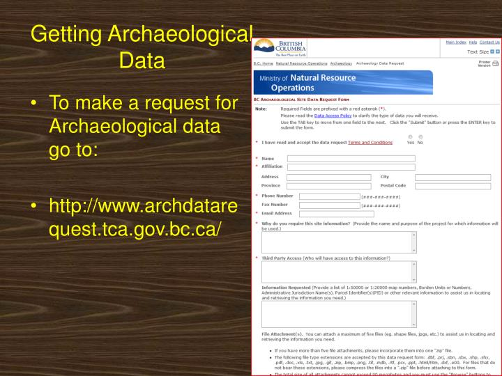 Getting Archaeological Data