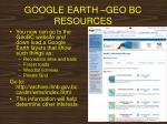 google earth geo bc resources