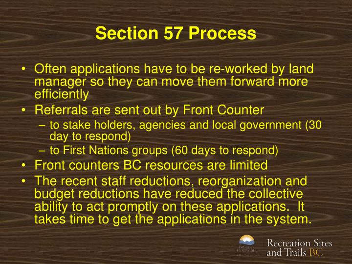 Section 57 Process