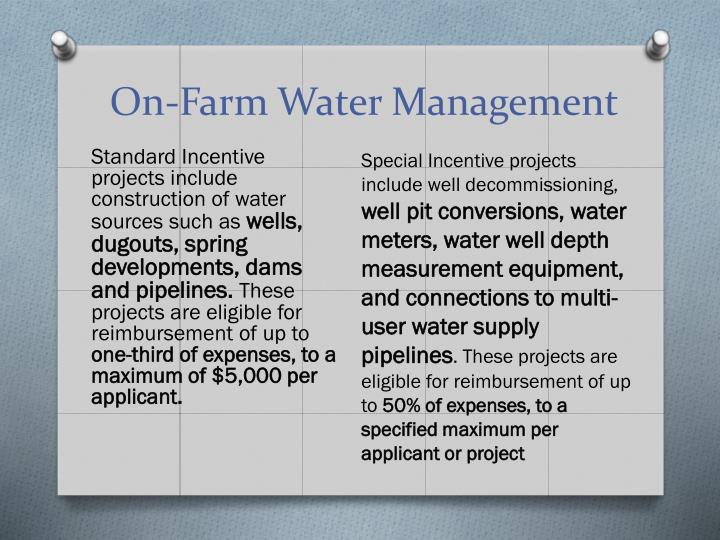 On-Farm Water Management