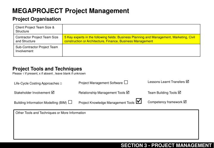 MEGAPROJECT Project Management