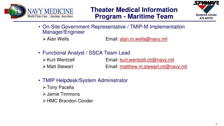Theater Medical Information Program - Maritime Team