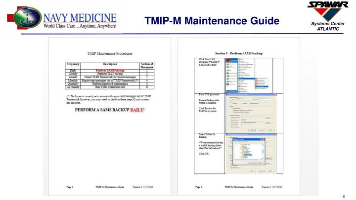 TMIP-M Maintenance Guide