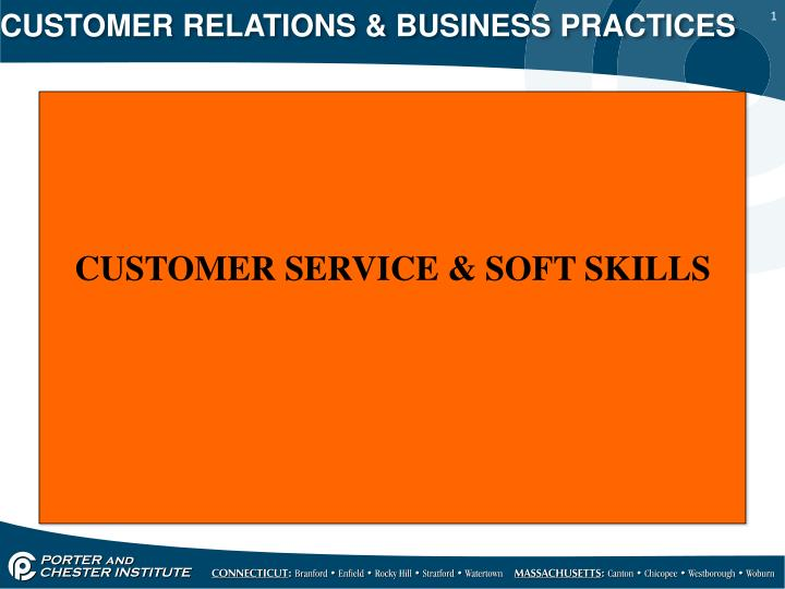Customer relations business practices