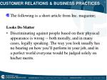 customer relations business practices8