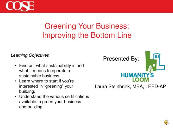 Greening Your Business: