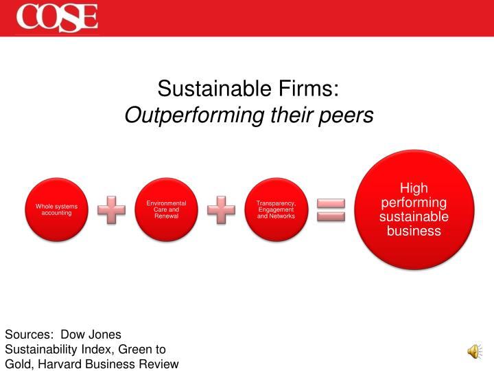Sustainable Firms: