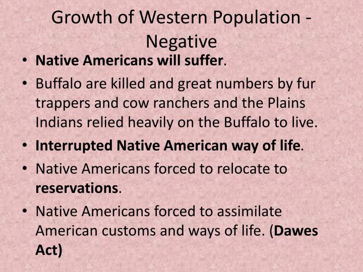 Growth of Western Population - Negative