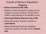 growth of western population negative