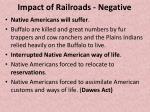impact of railroads negative