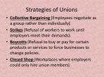 strategies of unions