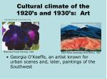cultural climate of the 1920 s and 1930 s art
