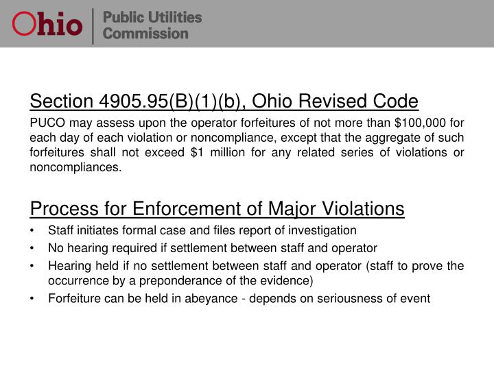 Section 4905.95(B)(1)(b), Ohio Revised Code