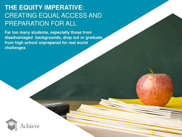 THE EQUITY IMPERATIVE