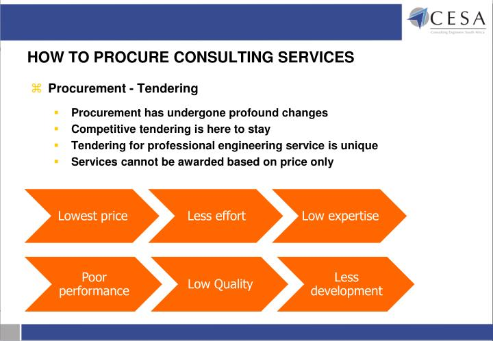 HOW TO PROCURE CONSULTING SERVICES