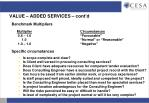 value added services cont d3