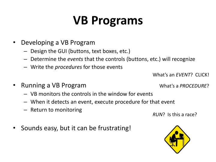 VB Programs