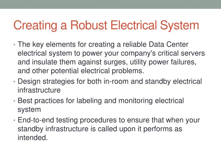 Creating a Robust Electrical System