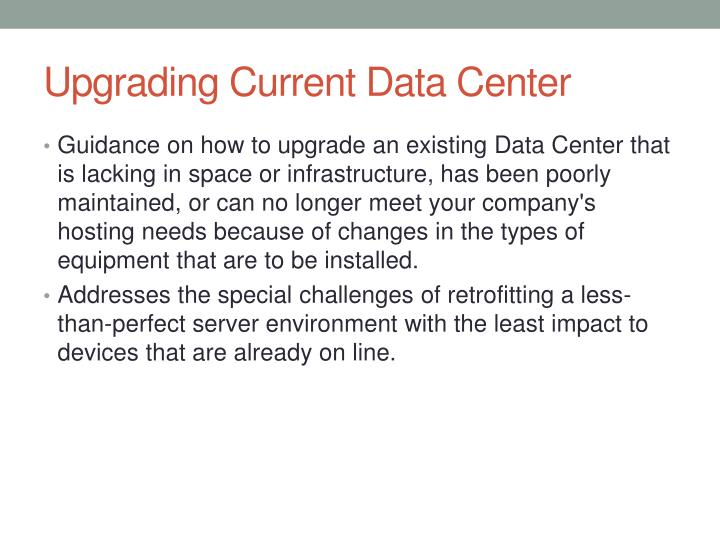 Upgrading Current Data Center