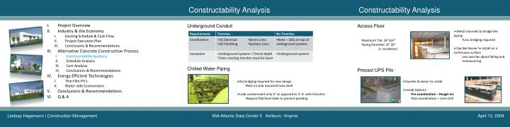Constructability Analysis