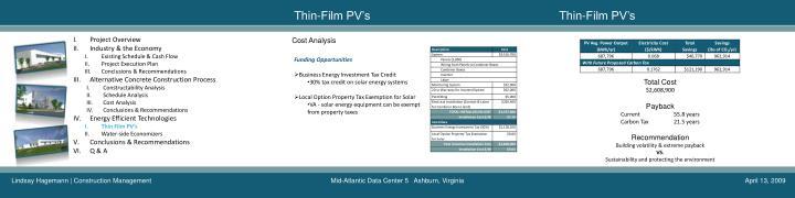 Thin-Film PV's
