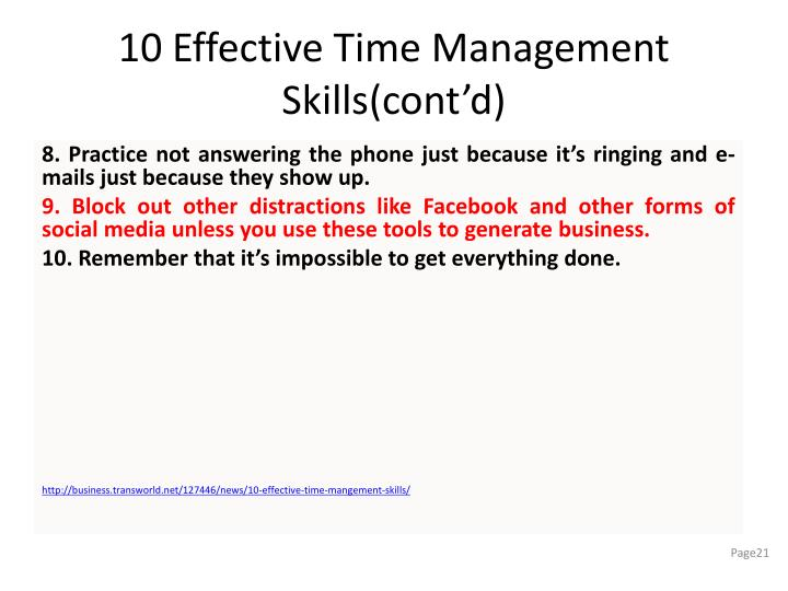 10 Effective Time Management